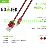Hippo Valley 2 Lightning 200 cm Kabel Data Charger iphone 5 6 7 NO BOX