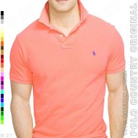 POLO COUNTRY Original C5-27 Kaos Kerah Cowo Cotton Lycra Salmon