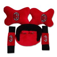 Football Club Bantal mobil Set 3in1 / interior mobil (bantal, seatbelt cover & tissue cover)