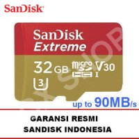 SanDisk Extreme 90MB/s Micro SDHC UHS-I U3 Card Class 10 32GB