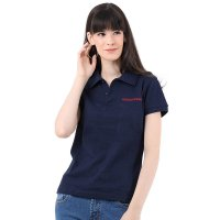 Mobile Power Ladies Polo T-shirt Wangki - Navy Blue MPL202