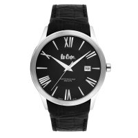 Moment watch - lee cooper LC-64G-C - jam tangan pria - leather strap - hitam