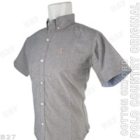 POLO COUNTRY Original C23-43 Baju Kemeja Pria Cotton Oxford Abu Misty