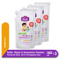 PROMO Sleek Bottle & Accessoris Cleanser 900 mL isi 3