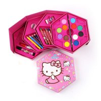4 in 1 Crayon Set HELLO KITTY (4 tingkat isi 46 pcs crayon)