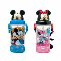 Botol Minum Karakter Mickey Minnie Hello Kitty HK Kepala 3D Bottle Drink 400Ml