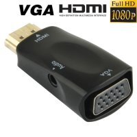 Full HD 1080p HDMI Male To Vga And Audio Adapter / Converter For Hdtv / Monitor / Projector