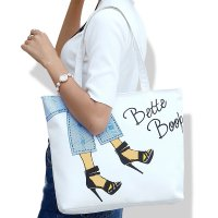 Big Printed Canvas Tote Bag / Tas Kanvas Motif / Tas Wanita / Tote Bag