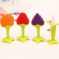 Fruit Teether Silicone Stick Teether Bayi Silicon Lembut Aman Bpa Free