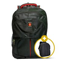 Tas Ransel Laptop Polo King Backpack + Slot Laptop 15,6 Inch + Raincover