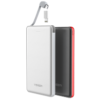 Power Bank VIVERR 20000mAh | Ultra Slim Leather | Built-In Cable