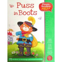 [Hellopandabooks] Puss in Boots Phonic Readers Level 3 (Age 4-6 years) with 75 stickers