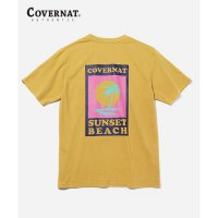 (COVERNAT) S/S SUNSET PALM TREE TEE GOLD