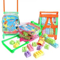 Kids Block Trolley 50 pcs - Mainan block ransel trolley anak - ages 3+