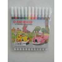 SPIDOL 12 WARNA SNOWMAN (12 COLORING MARKERS)