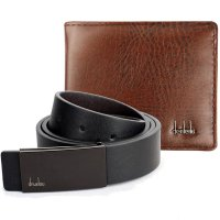 [1+1] [FREE ONGKIR]  SET Mens Automatic Belt AND Men Bifold Business Wallet
