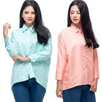 JO & NIC Jennie Shirt - Kemeja fit to XL  Wanita - 6 Warna