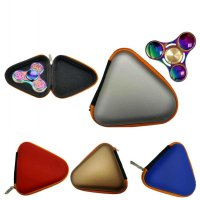 Gift For Fidget Hand Spinner Triangle Finger Toy Focus ADHD Autism Bag Box Carry Case Packet