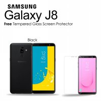 Samsung Galaxy J8 [3/32GB] Black - SEIN + Free Tempered Glass