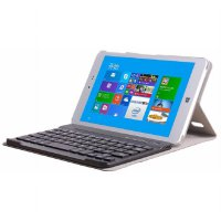 Bluetooth Keyboard for Chuwi HI8/VI8 Plus/HI8 Pro with Leather Case - Gray