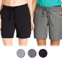 Ladies Knit Shorts With 2 Side Pockets & Strap - Celana Pendek Wanita - Available In 3 Colors
