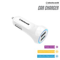 Delcell Car Charger 2.2A Dual Port USB
