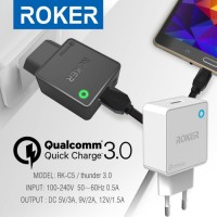 Roker Charger Thunder Type C 3.0 Ampere Quick Charge + Kabel Type C