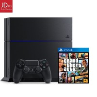 SONY PLAYSTATION 4 1TB Hitam - Seri 1206B - Plus Game Grand Theft Auto V