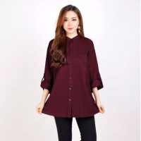 Women Blouse shanghai collar shirt/ Blouse Wanita fit to XXL