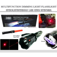 Stun Gun Flashlight ( Senter Setrum + Laser )