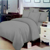 New Bed Cover Rosewell Polos Abu Abu 200X200 Cm / Spf 592