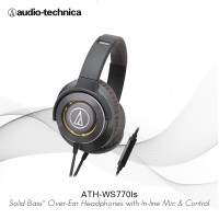 Audio Technica Solid Bass Professional Headphone ATH-WS770is - Hitam Gold