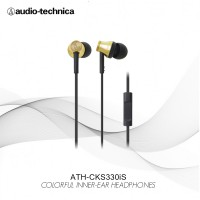 Audio Technica ATH-CK330iS GD ( EX ) GOLD