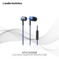 Audio Technica ATH-CK330iS BL ( EX ) Blue - Biru