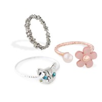 [Free Delivery] (5pcs in 1 group) Korean cute couple ring