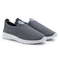 2Pilihan Dr. Kevin Men Slip On 9307: Grey,Black