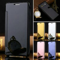 Clear View For Samsung Note 4 Note4 - Flip Smart Cover Flip Case Mirror Casing Sarung