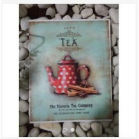 wall decor woodensign shabbychic vintage tea
