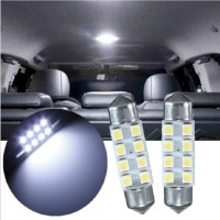 Lampu LED Mobil Festoon / Double Wedge C5W 8 1210/3528 SMD 31mm - White