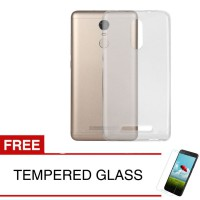 Case for Xiaomi Redmi Note 3 - Clear + Gratis Tempered Glass - Ultra Thin Soft Case