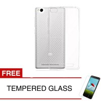 Case for Xiaomi Redmi 3 - Clear + Gratis Tempered Glass - Ultra Thin Soft Case