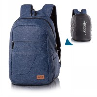 Blackkelly Tas Ransel Laptop Backpack Denim Free Rain Cover LHL267