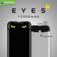 Hippo Powerbank Eyes 12000 Mah - Hitam