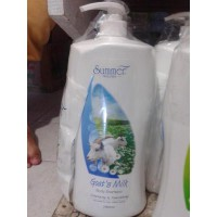 Sabun Summer Natural - Goat's Green Tea Pomelo Milk Body Shampoo 2000ml + Bonus Refill 250ml
