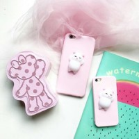 Casing Iphone Squishy Pink Chubby Cat