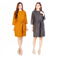 Women Midi Dress/ Dress Wanita Fit to XL