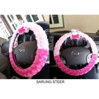 sarung steer mobil hello kitty