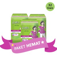 [PAKET HEMAT 3 PACK] KOTEX FRESH LINER LONGER AND WIDER UNSCENTED ISI 32