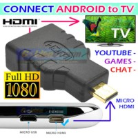 Android to TV Adapter micro HDMI to HDMI Connector Full HD 1080 HP ke SJ0118