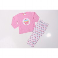 Piyama Anak House Of MC  Kitty || Cupcake || Bahan Katun || Motif Lucu